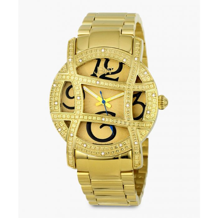Image for Olympia 18k gold-plated stainless steel watch