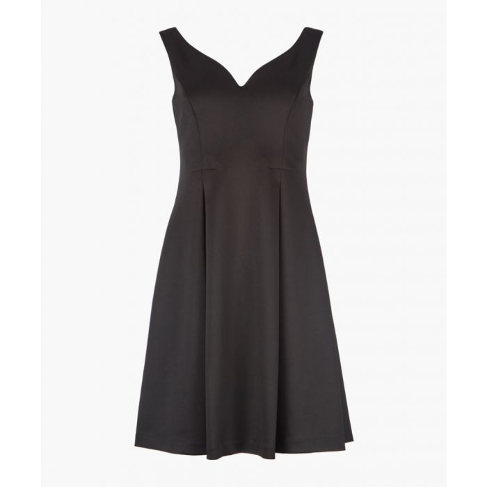 Image for Black sweetheart neck dress