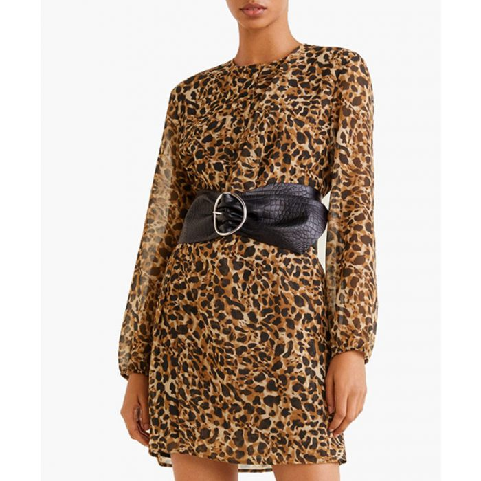 Image for Brown leopard print wrap dress