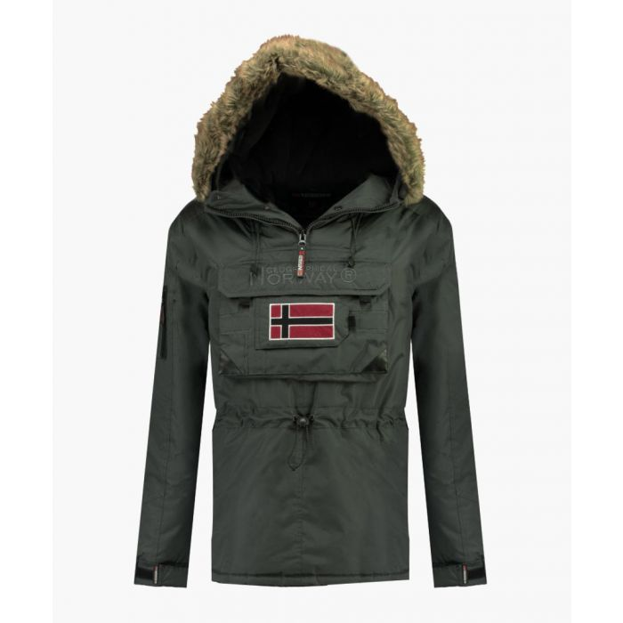 Image for Dark grey pull-over semi-zipped padded parka