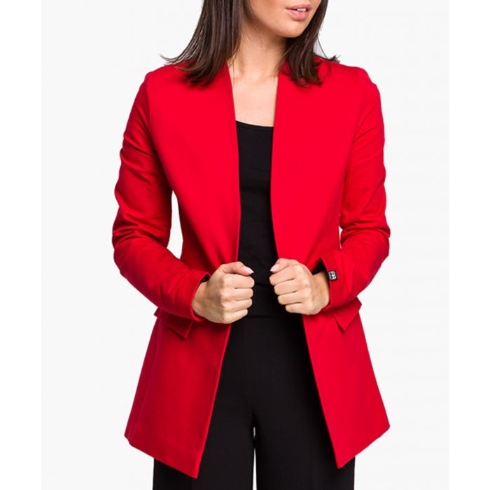 Image for Red Cotton Blend Jacket