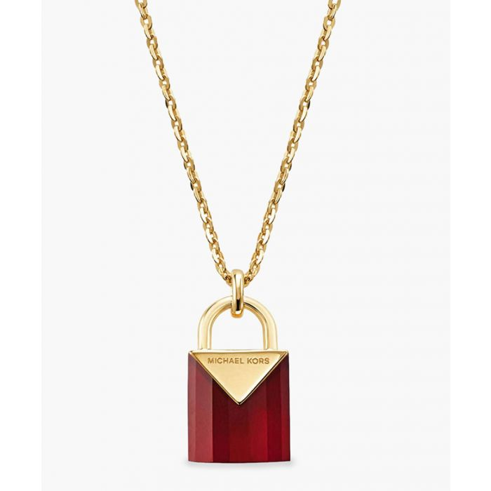 Image for Gold-plated and red necklace