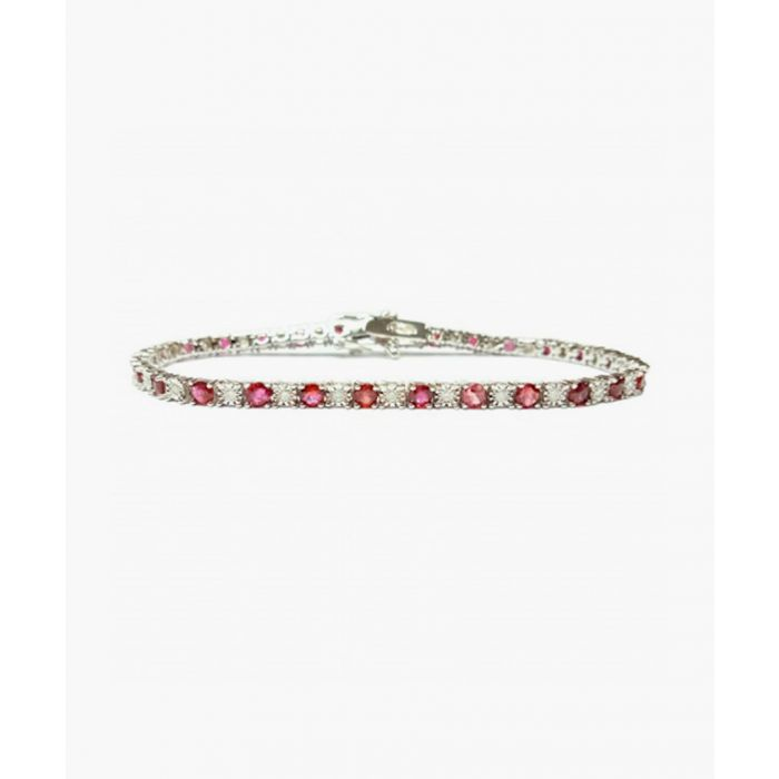Image for 9k white gold and 4.50ct ruby and diamond bracelet
