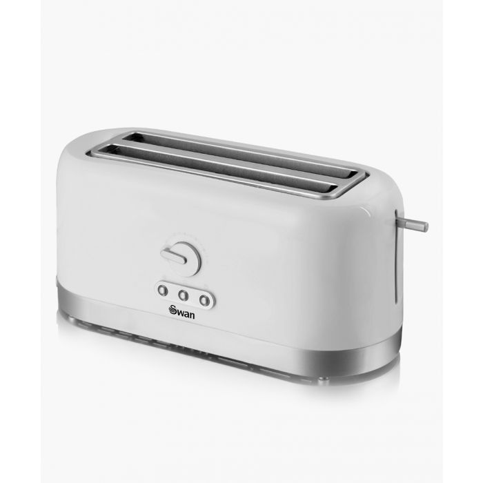 Image for Long Slot white 4-slice toaster