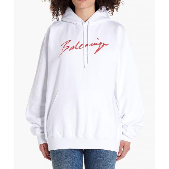 Image for White lipstick logo hoodie