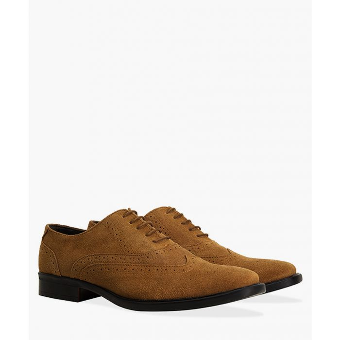 Image for Tan faux-leather Oxford brogues