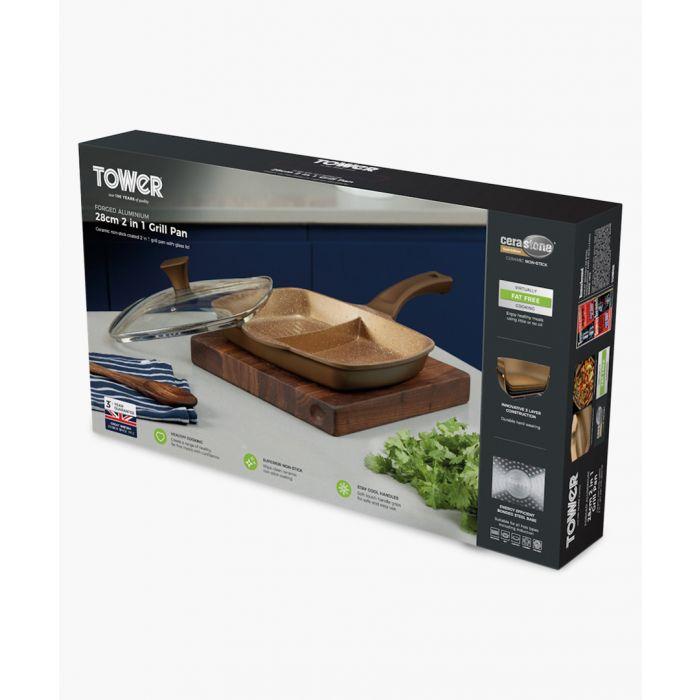 Image for Cerastone 2-in-1 cast grill 28cm