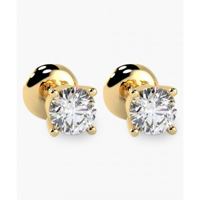 Image for 9k yellow gold and 0.25ct diamond stud earrings