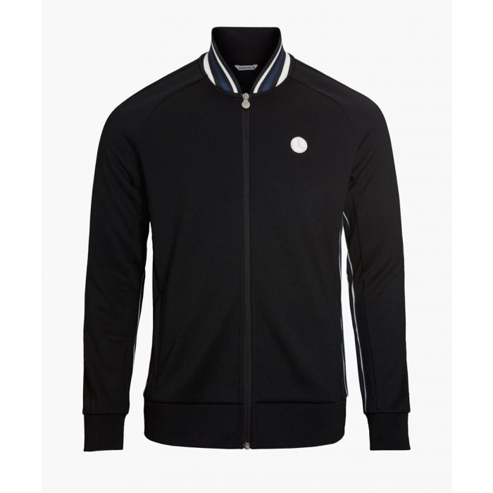 Image for Black cotton blend signature track jacket