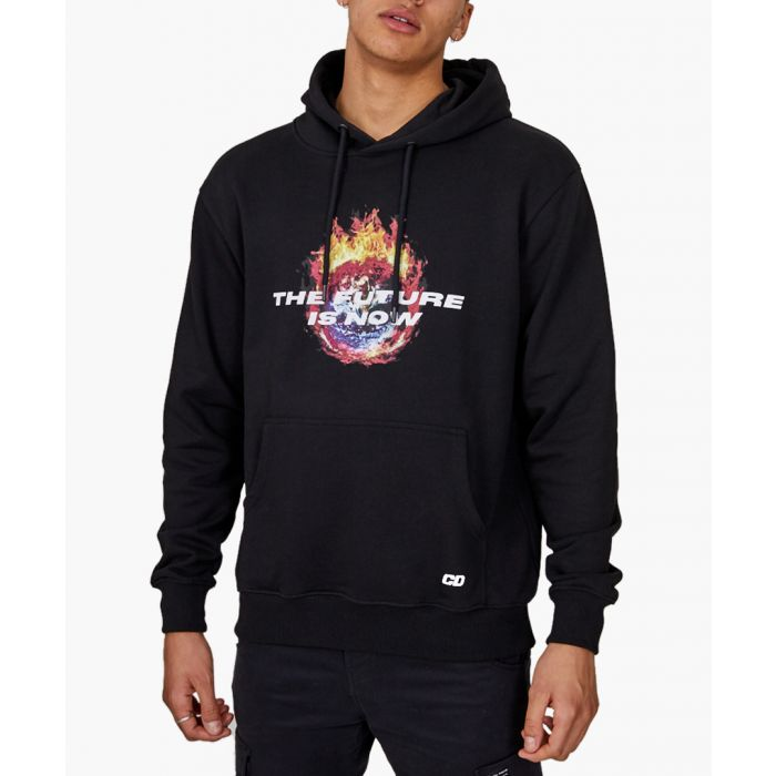 Image for Black cotton hoodie