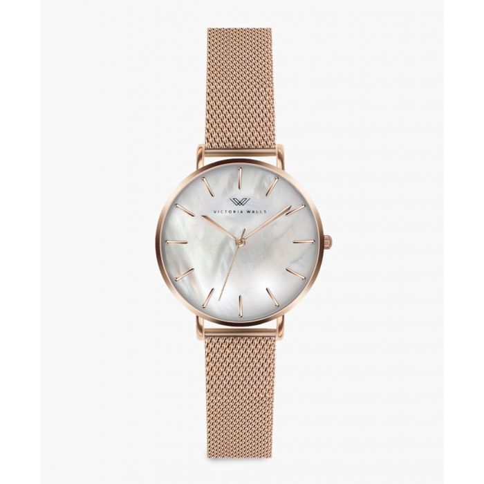 Image for Paulette rose gold-plated analogue watch