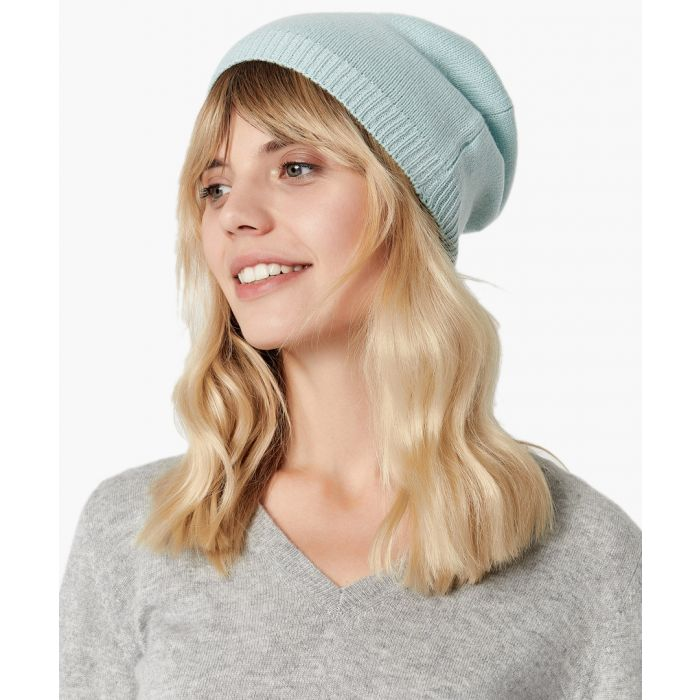 Image for Light blue pure cashmere hat