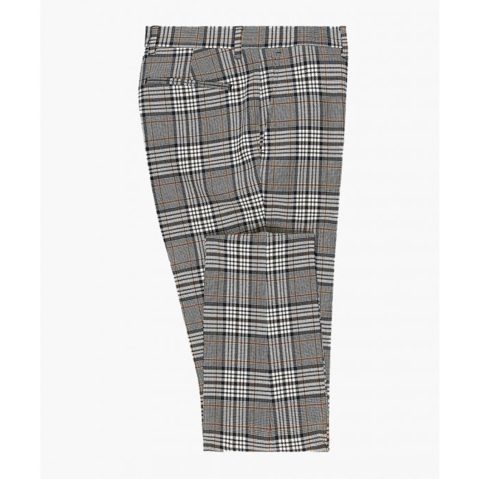 Image for Grey check slim suit trousers