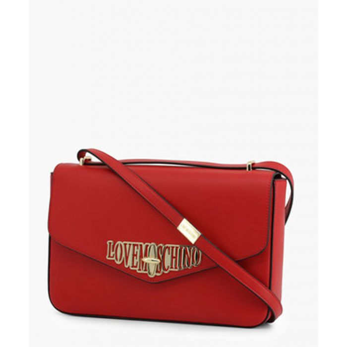 Image for Red faux-leather crossbody