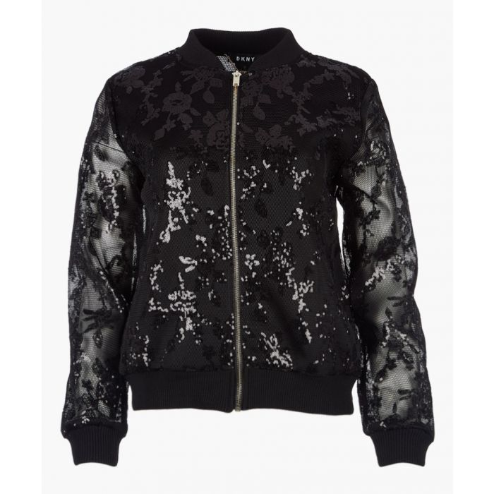 Image for Black long sleeve sequin jacket