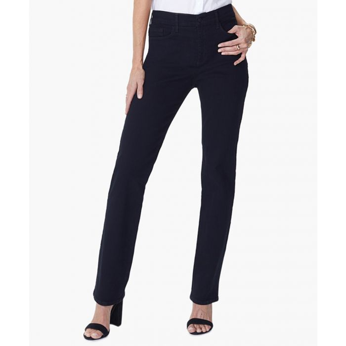 Image for Marilyn straight black jeans