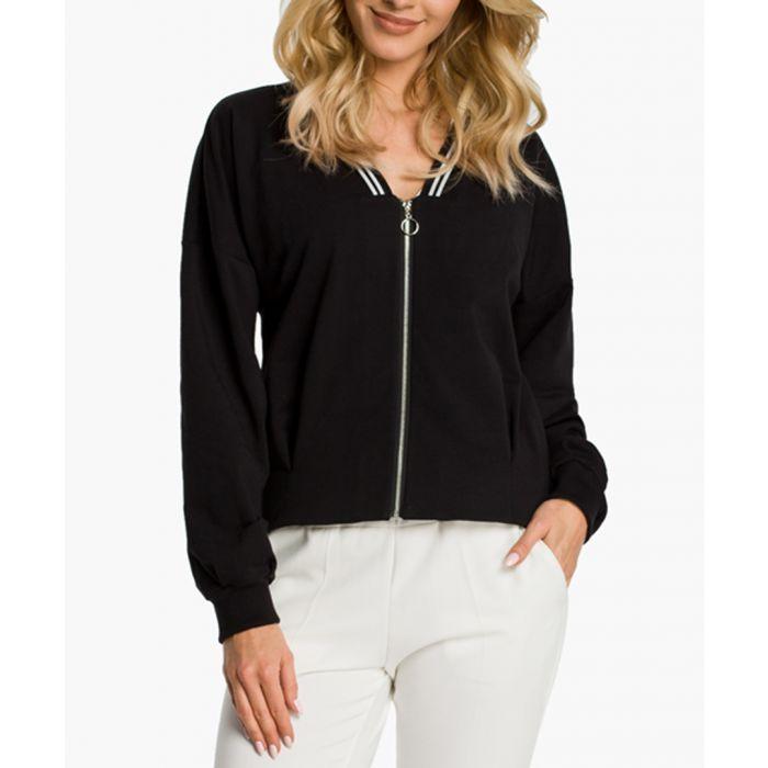 Image for Black Cotton Blend Jacket