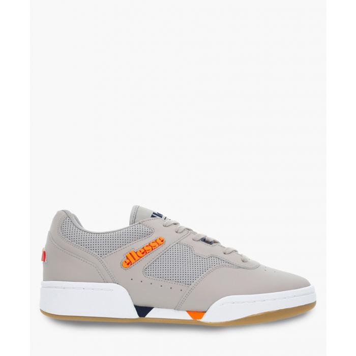 Image for Grey leather tech trainers