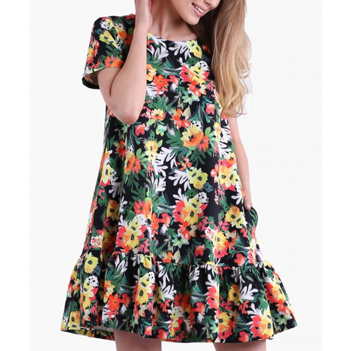 Image for Japan and flowers woven dress
