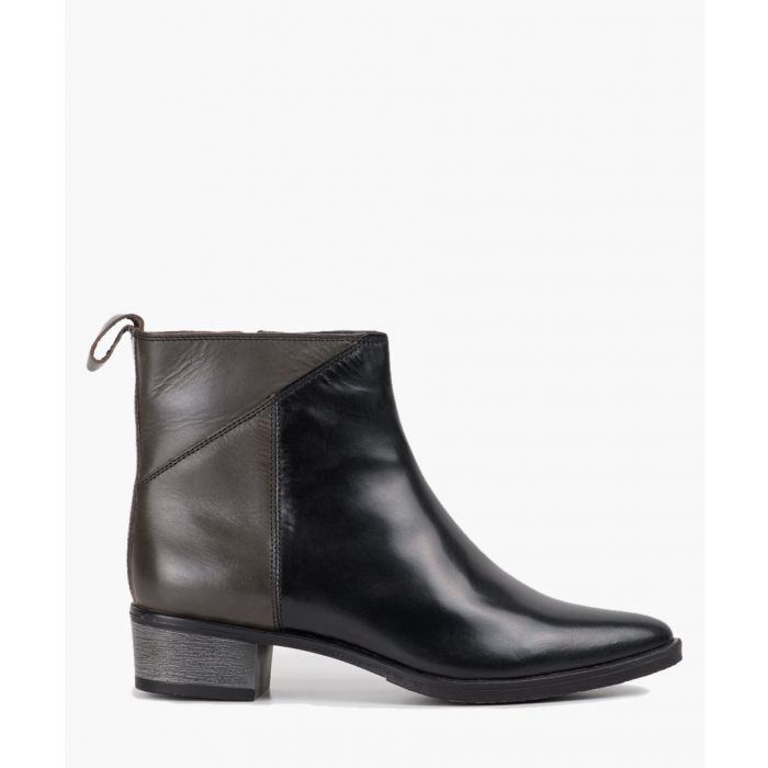 Image for Black charcoal pointed toe ankle boots