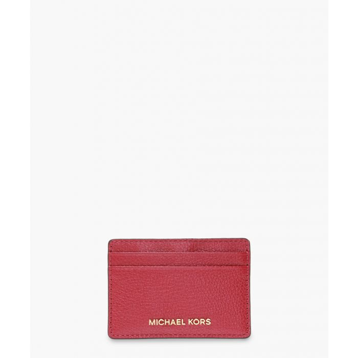 Image for Jet Set berry leather cardholder