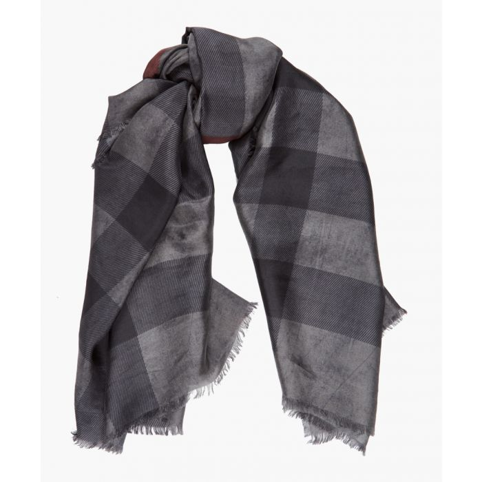 Image for Charcoal pure silk scarf