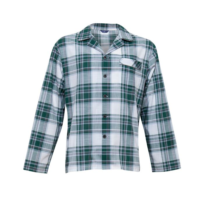 Image for Alfie green check pyjama top