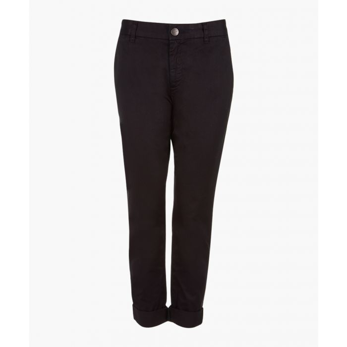Image for The buddy black pure cotton chinos