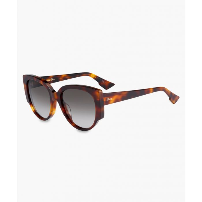 Image for Havana rounded sunglasses