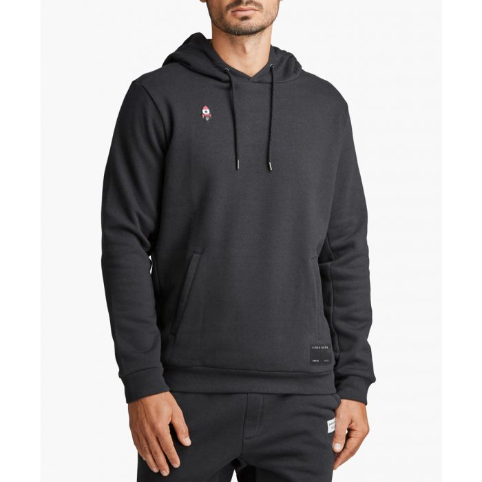 Image for Joris black organic cotton blend hoodie