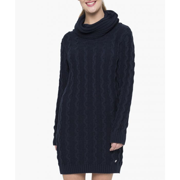 Image for Navy blue cotton dress