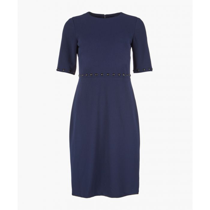 Image for Navy short sleeve shift dress