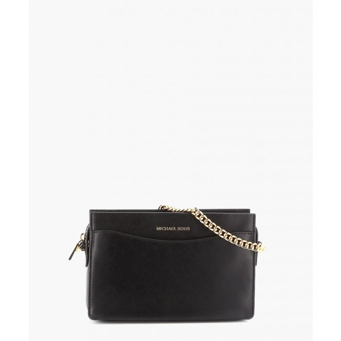 Image for Jet Set black leather chain purse