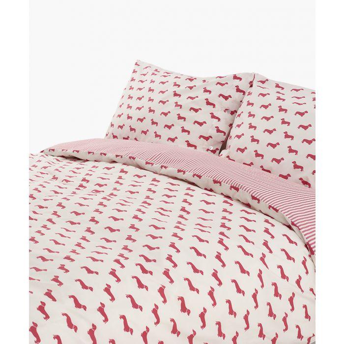 Image for Dachshund pink super king duvet set