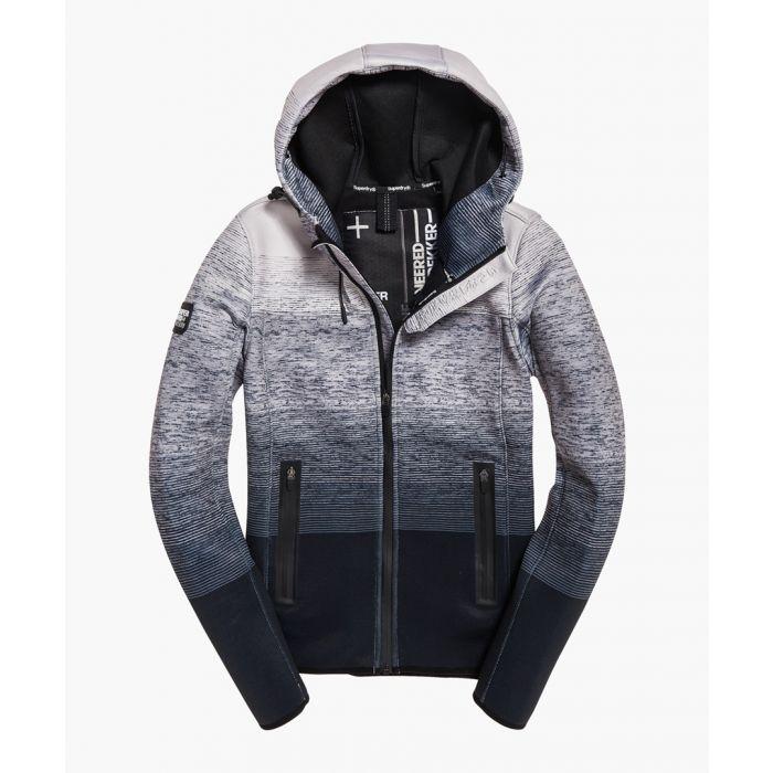 Image for Mountain black cotton blend soft windtrekker jacket
