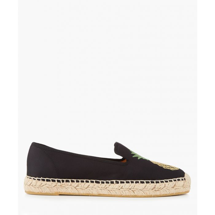 Image for Nonno pineapple black espadrilles