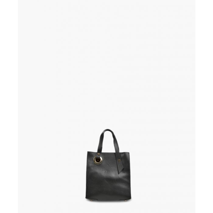 Image for Black leather handbag