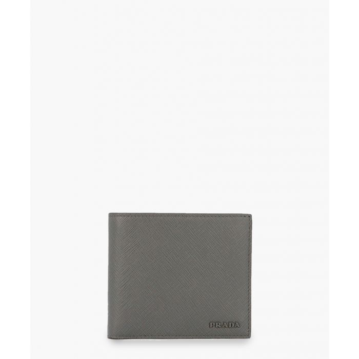 Image for Grey saffiano leather cardholder