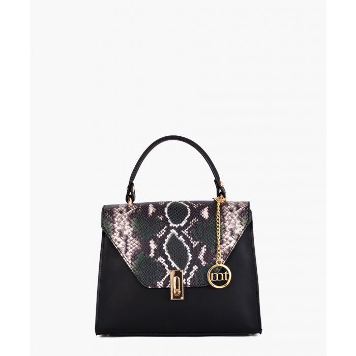 Image for Darsena black leather grab bag