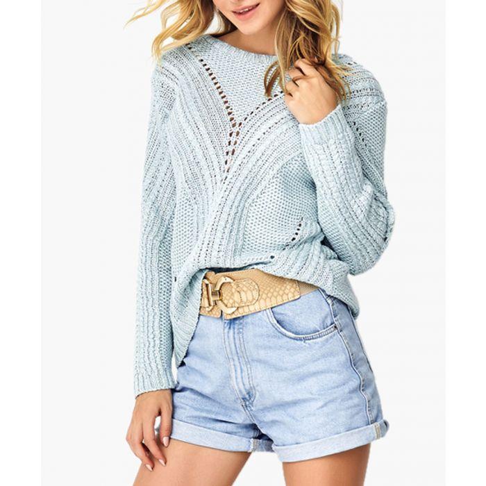 Image for Light blue knitted jumper