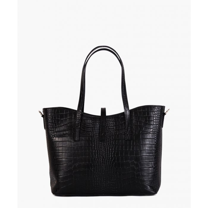 Image for Rezia black leather shopper