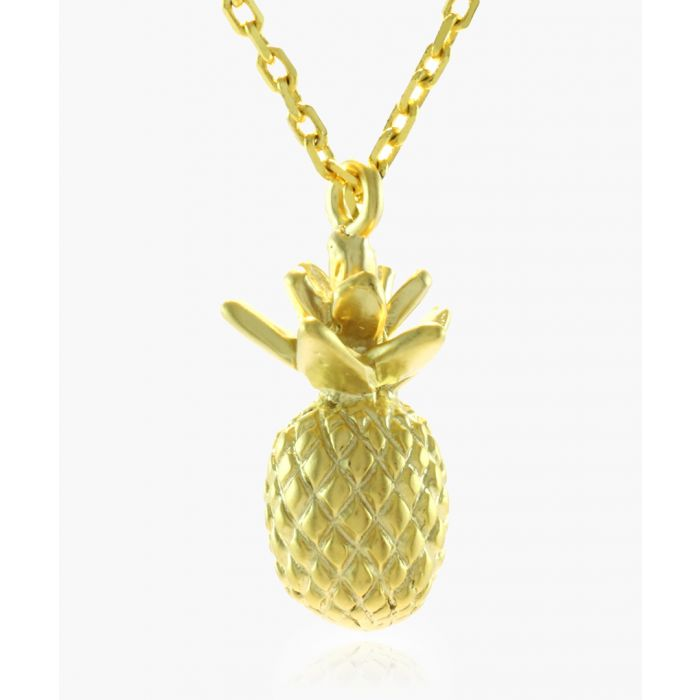 Image for Pineapple 14k gold-plated necklace
