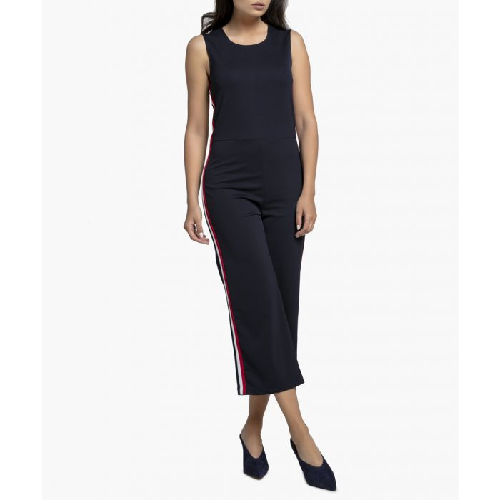 Image for Navy Knitted Jumpsuit