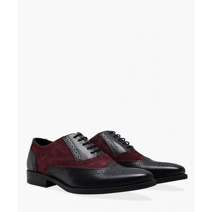 Image for Gatsby burgundy and black brogues