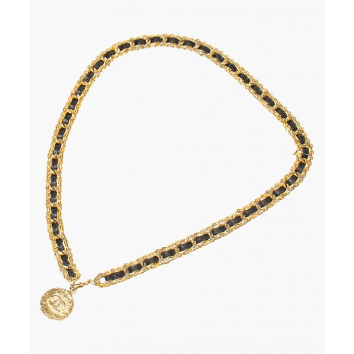 Image for Vintage gold-plated and black necklace
