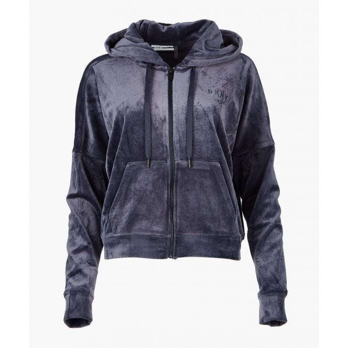 Image for Grey longline hooded jacket