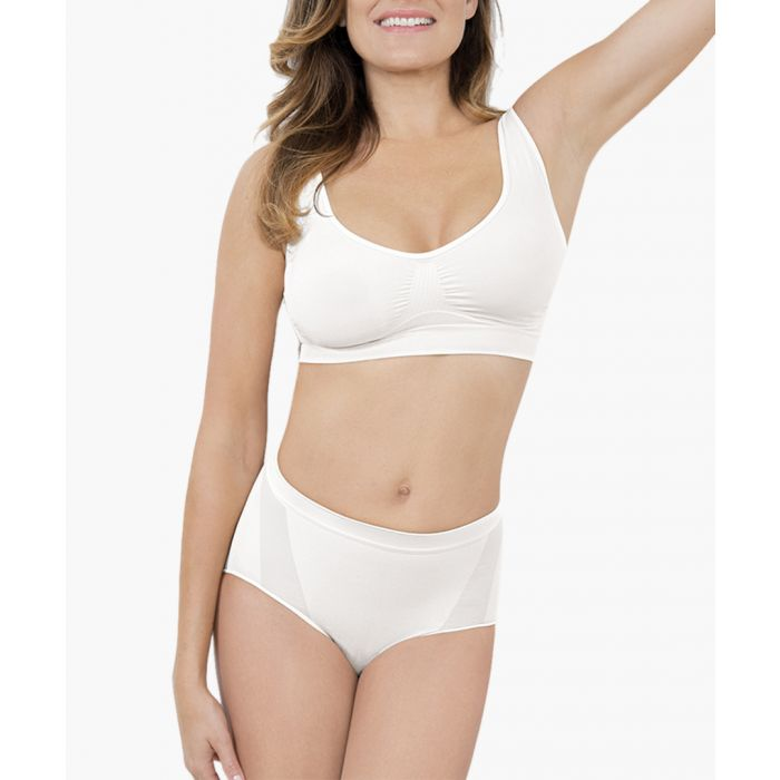 Image for White low-waisted shaping briefs