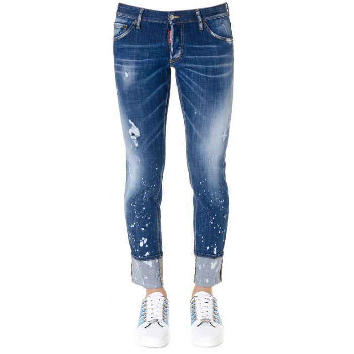 Image for Paint spot cotton slim jeans