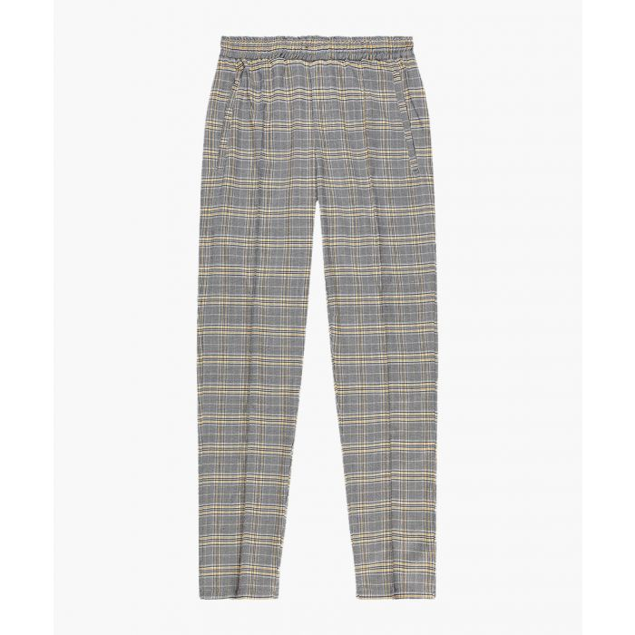 Image for Grey check slim trousers