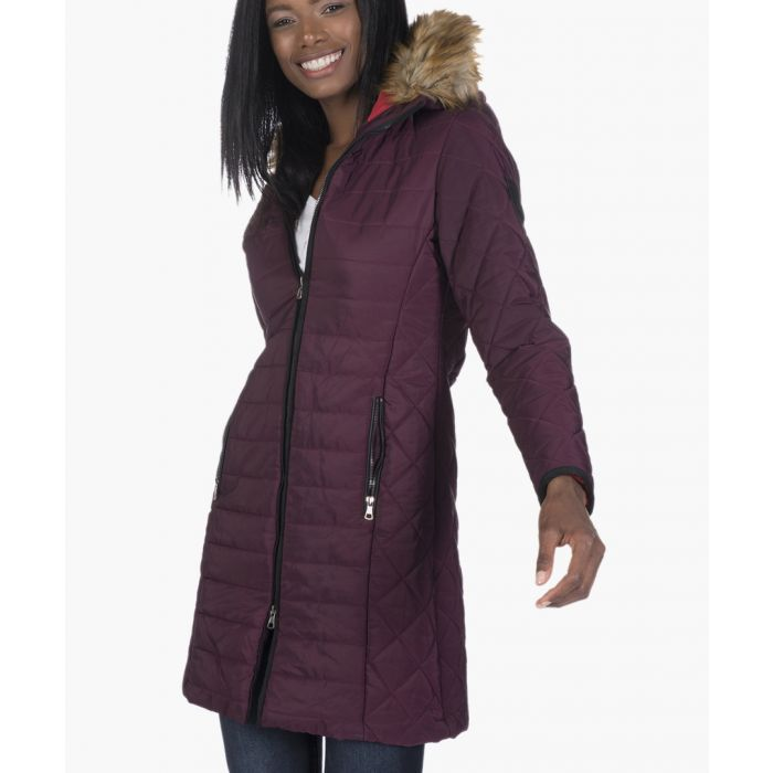 Image for Bordeaux quilted coat